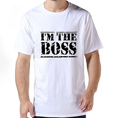 Pop Im Boss Men Tee Large White