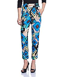 Madame Women's Patterned Pants (M1429622_Peacock_Small)
