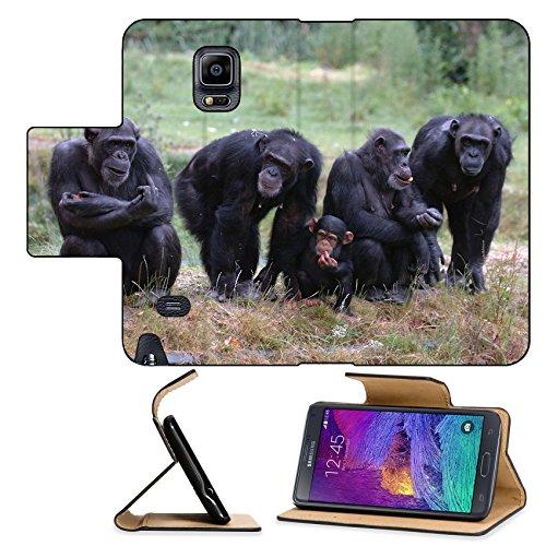 Luxlady Premium Samsung Galaxy Note 4 Flip Pu Leather Wallet Case When Monkey s Go Bad IMAGE ID 221188