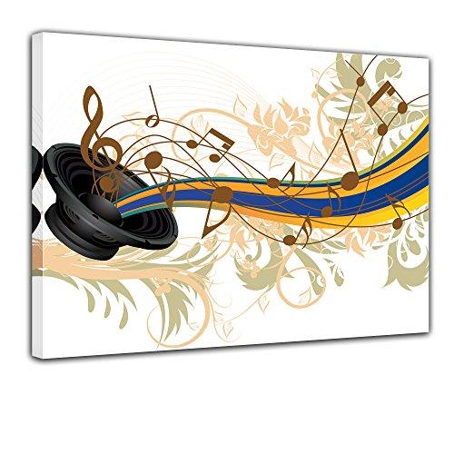 """Bilderdepot24 Leinwandbild """"Musical Grunge Background"""" - 70x50 cm 1 teilig - fertig gerahmt, direkt vom Hersteller"""
