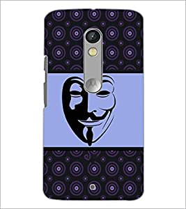 PrintDhaba Mask D-6029 Back Case Cover for MOTOROLA MOTO X PLAY (Multi-Coloured)