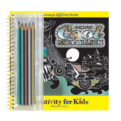 Creativity for Kids More Cool Metallics Artivity Book - Inspires and Develops Creativity and Imagination - For Children - Includes Metallic Colored Pencils - 1