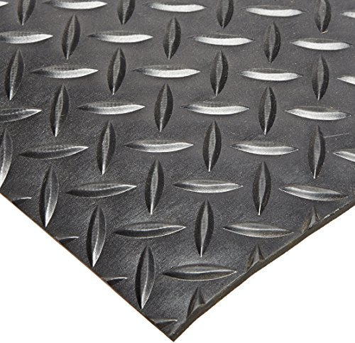 Rhino Mats SBD-424-2448 Diamond Plate Pattern Rubber Insulating Switchboard Mat, 2' Width x 4' Length x 1/4 Thickness, 30000 VAC, ASTM Type II Class 2, Black by Rhino Mats (Rubber Insulating Mat compare prices)