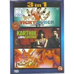 Vicky Donor / Karthik Calling Karthik / Rockstar (Hindi Film / Bollywood Movie / Indian Cinema 3 in 1 - 100% Orginal DVD Without Subtittle)