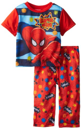 Ame Sleepwear Little Boys' Marvel Spiderman Pajama Set, Assorted, 4T front-1036314
