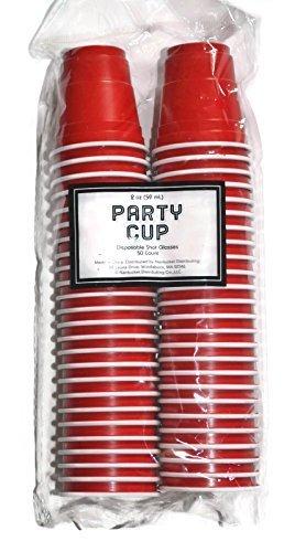 Disposable Red Shot Glasses 2 Oz, 50 Count (Mini Solo Cups compare prices)