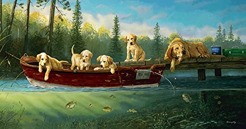 Fishing Lessons a 500-Piece Jigsaw Puzzle by Sunsout Inc.