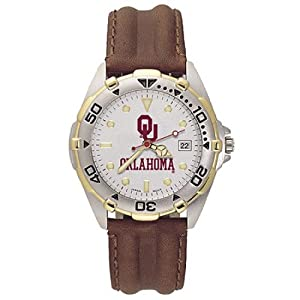 NSNSW22120P-Mens All Star University Oklahoma Leather Watch by NCAA Officially Licensed