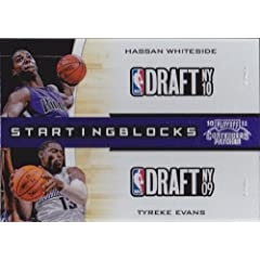 Buy 2010-11 Playoff Contenders Patches Starting Blocks #26 Hassan Whiteside - Tyreke Evans by Panini