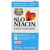 Slo-Niacin Polygel Controlled-Release Niacin, 500 mg, 100 Tablets