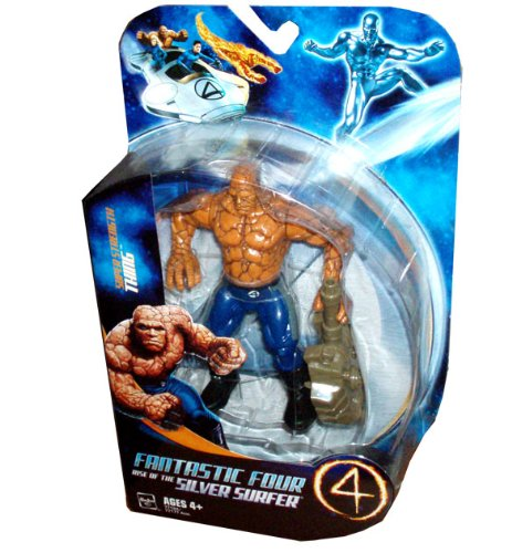 Picture of Hasbro Fantastic Four 4 Rise of the Silver Surfer 5-1/2 Inch Tall Action Figure - Super Strength THING with Tank Turret (B002GM8976) (Fantastic Four Action Figures)