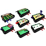 Ultimate 7 In 1 Novelty Table Top Arcade Games Toy Play Set W/ Table, Accessories