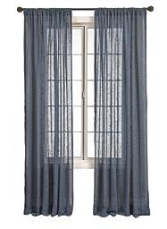 Diplomat Decor Anatolia Rod Pocket Panel, 84-Inches, Denim
