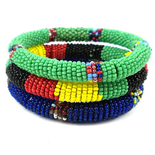 comercio-justo-joyeria-bangle-pulseras-masai-set-de-3-bold-color-combo