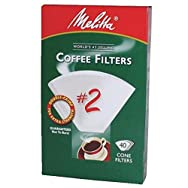 Melitta U S A Inc 622704 No. 2 Cone Coffee Filter-WHITE #2 COFFEE FILTER