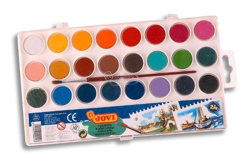 Acuarelas Jovi estuche 24 colores