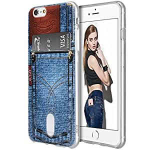 iPhone 6S/6 Case - Profer[Fashion Patter][Creative Design]Card Slot Ultar Slim Soft TPU Protective Wallet Case Cover for Apple iPhone 6S(2015) / 6(2014)