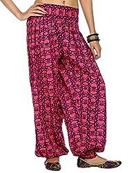 Rajrang Womens Cotton Violet X-Large Harem Pants