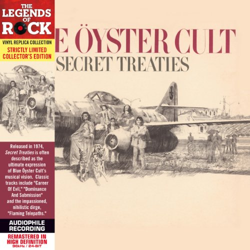 Blue Oyster Cult - Secret Treaties - Paper Sleeve - CD Deluxe Vinyl Replica