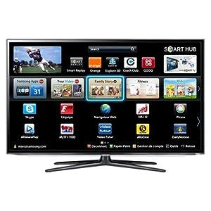 """Samsung UE55ES6300 TV LCD 55"""" (138 cm) LED HD TV 1080p 3D Smart TV avec Wi-Fi intégré 2 paires de lunettes 3D 200 Hz 3 HDMI 3 USB Classe: A+"""