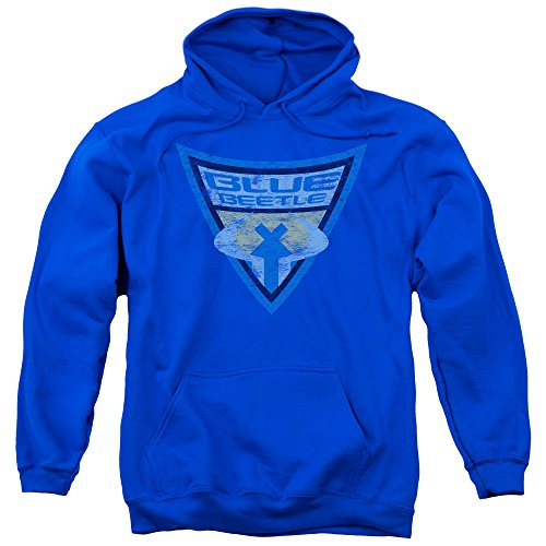 Blue Beetle Batman Brave And The Bold Distressed Costume Adult Pull-Over Hoodie