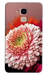 Omnam Flower Pattern Printed Designer Back Cover Case For Huawei Honor V8