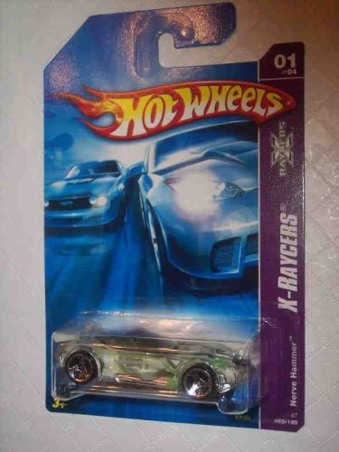 X-Raycers Series #1 Nerve Hammer 3-Spoke Wheels #2007-69 Collectible Collector Car Mattel Hot Wheels - 1