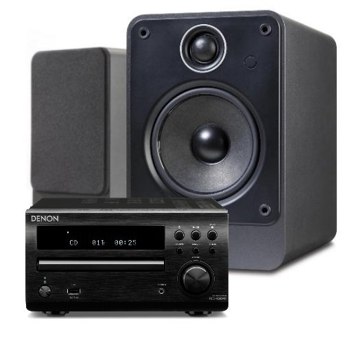 Denon RCD-M39DAB (Black) Micro CD Receiver System with Q Acoustics 2010i Speakers (Graphite). Includes 5 metres Chord Leyline High Performance Speaker Cable