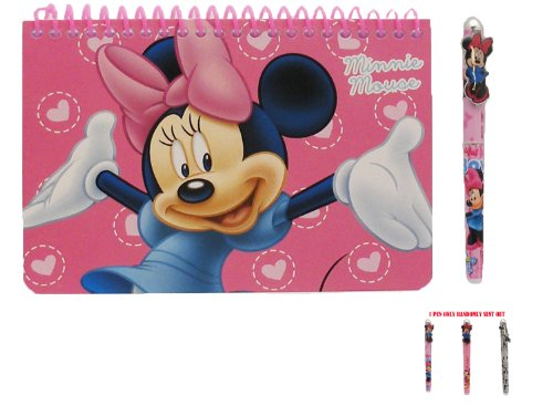 Disney Minnie Mouse Spiral Autograph Book Pink and 1 Beatiful Pen - 1