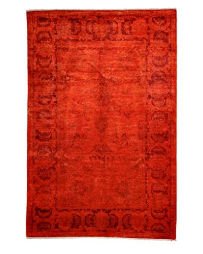 Darya Rugs Transitional Oriental Rug, Bright Orange, 8′ 10″ x 5′ 10″