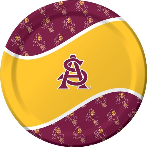 Creative Converting 8 Count Arizona State Sun Devils Paper Dinner Plates