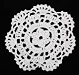Package of 24 Hand Crocheted Round White Doilies - 100% Cotton