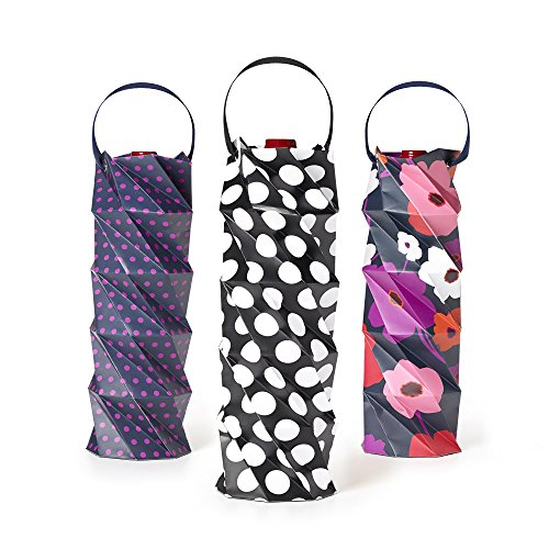 BUILT NY  Origami Paper Wine Totes in Assorted Styles (Set of 3)