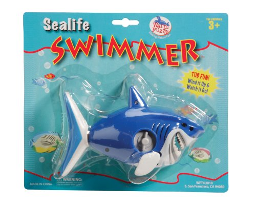 Sea Life Swimmer Wind Up Shark Bath Tub Toy front-797880
