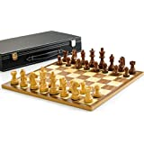 "Wooden Chess set with 3"" King"