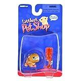 Hasbro Year 2004 Littlest Pet Shop Single Pack Series Bobble Head Pet Figure - Brown GERBIL HAMSTER With Water...