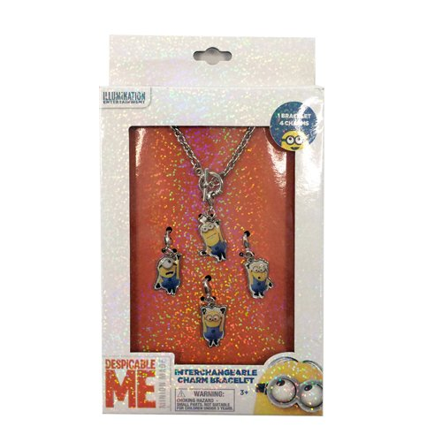 Despicable Me Charm Bracelet with Interchangeable Minion Charms