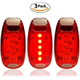 LED Safety Lights + FREE Bonuses | Clip on Flashing Strobe Light High Visibility for Running Jogging Walking Cycling Best reflective gear for Kids Dogs Bicycle Helmet and Bike Tail light
