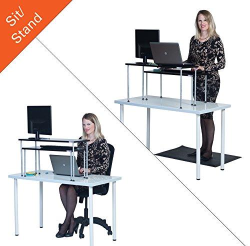 Latitude Standing Desk Set - 2 Piece nesting desk converts your desk to a Stand up Desk!