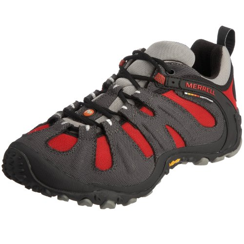 Merrell Mens Chameleon Wrap Slam Lace Up Trekking and Hiking Shoes J86269 Charcoal/Red 8 UK, 42 EU