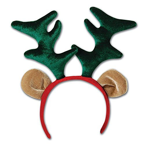 Adults Kids Christmas Reindeer Bopper Headband Headdress Office Party Stocking Filler Festive Gift Antlers Rudolph Blitzen Animal Sven by (Frozen Sven Kids Reindeer Antlers)