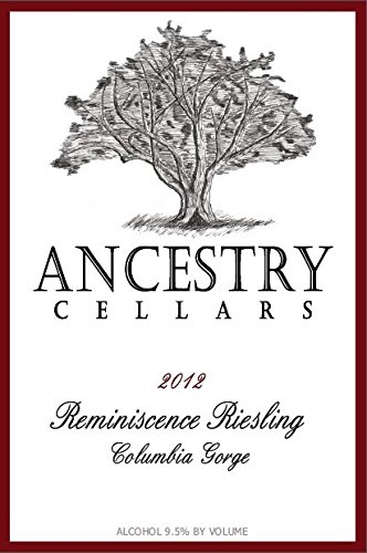 "2012 Ancestry Cellars ""Reminiscence"" Riesling 750 Ml"
