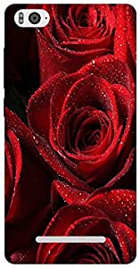 The Racoon Grip Red Rose hard plastic printed back case for Xiaomi Mi4i
