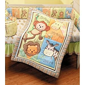 "Summer ""Monkey Jungle"" 4-Piece Crib Set"