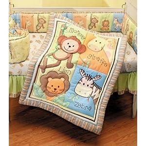"Summer ""Monkey Jungle"" 4-Piece Crib Set"