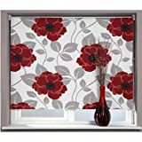 PAPAVERO POPPY BLACKOUT Roller Blind 180cm x 170cm - with free Safety Kit for roller blind cords and chains
