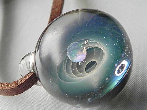 [ドラゴンパイプ]Dragon Pipe 1点物、ガラスネックレス 地球 メンズネックレス ガラスペンダント ガラスネックレス宇宙 メンズペンダント チョーカー 日本製