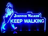 Johnnie Walker Logo LED Desk Lamp Night Light Beer Bar Bedroom Game Room Signs