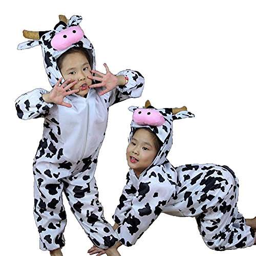 [Moolecole Halloween Christmas Kids Costume Toddler Baby Animal Costume Cow L] (Baby Cow Halloween Costumes)