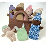 Creative Minds Plush Basket of Babies - 6 Pc Set for All Ages